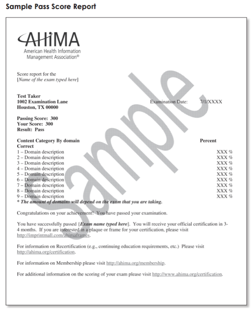 rhia certification exam questions feel prepared ways expect answers random order pm better himt