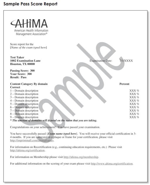 RHIA certification exam